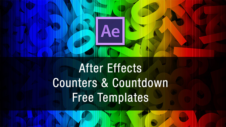 view larger image after effects counter free template
