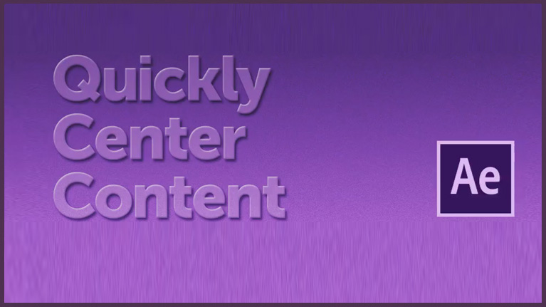 Center content in After Effects