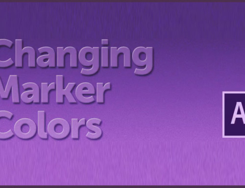 How to change the marker label color in After Effects ?