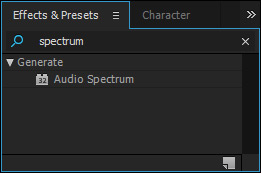 audio spectrum effect