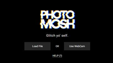 photomosh glitch effect online tool
