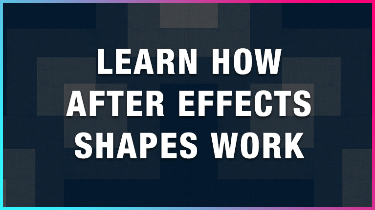 Learn how after effects shapes work